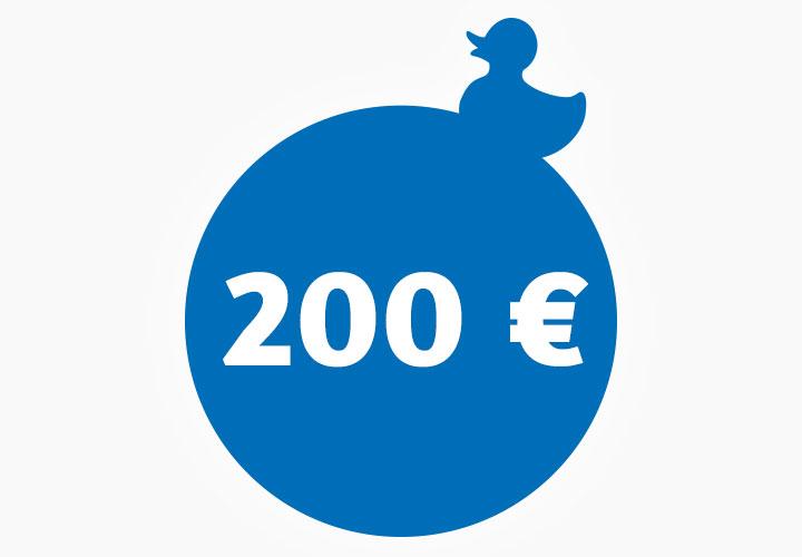 Wertgutschein 200,00 €