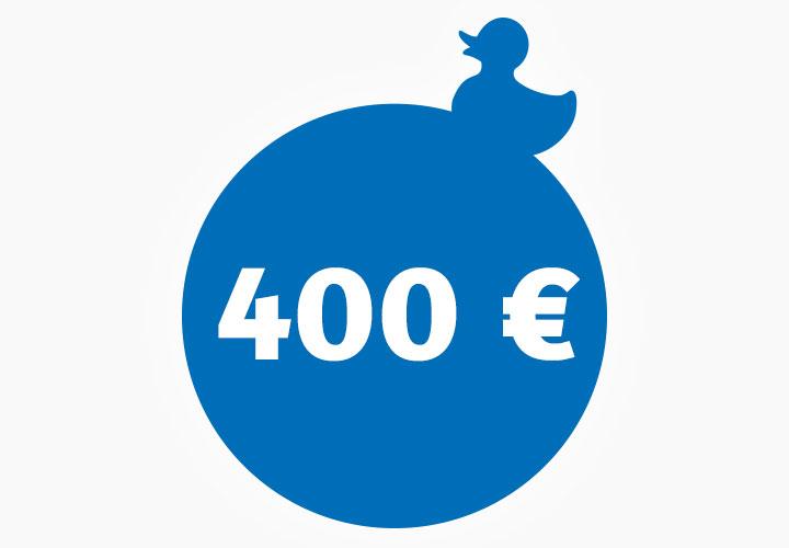 Wertgutschein 400,00 €