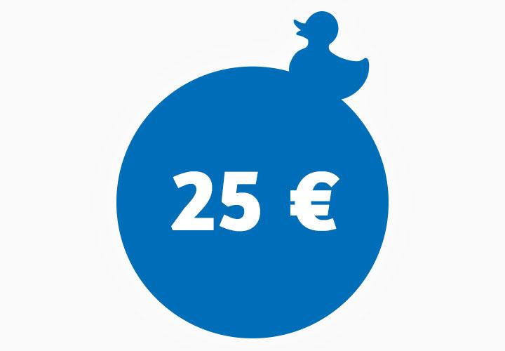 Wertgutschein 25,00 €